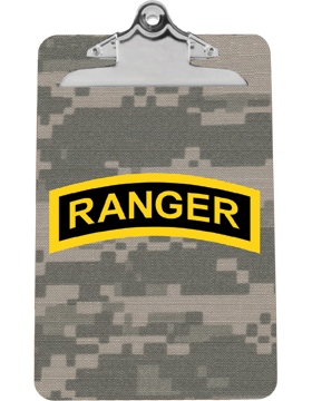 Clipboard Ranger Tab on Camo with Standard Clip