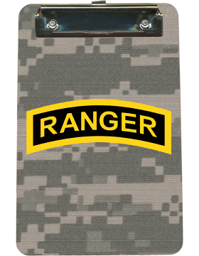 Clipboard Ranger Tab on Camo with Flat Clip