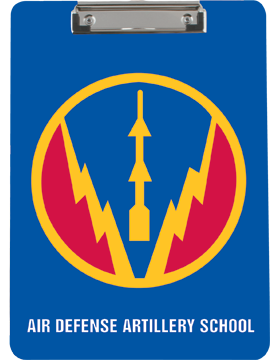 Clipboard, Air Defense Artillery School Patch, Blue, Flat Clip