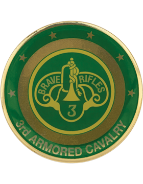 3rd Armored Cavalry Stock Coin with Domed Enamel