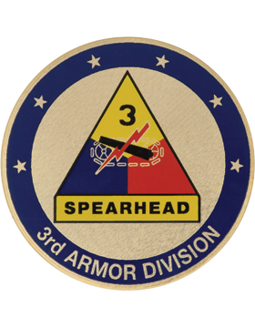 STOCK COIN-0003B 3 Armor Division Domed Enamel