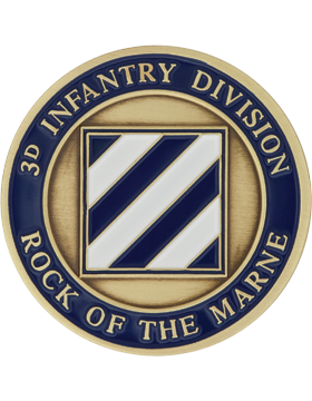STOCK COIN-0003F 3 Infantry Division Bronze with Enamel