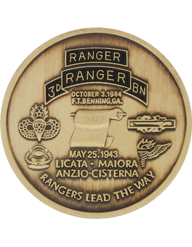 3rd Ranger Battalion with Panama Stock Coin Brass with Enamel