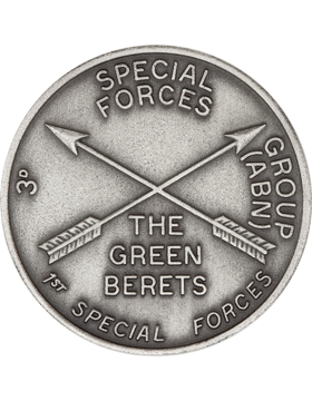 3rd Special Forces Stock Coin Silver Ox