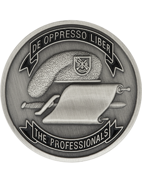 5th Special Forces Vietnam Stock Coin Pewter with Enamel small