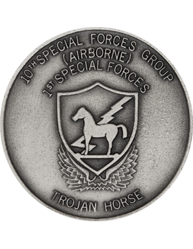 10th Special Forces Stock Coin Silver Ox