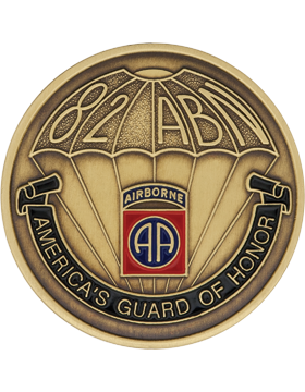 STOCK COIN-0082C 82 Airborne Division Bronze with Enamel