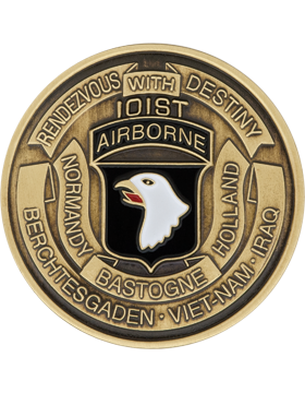 101st Airborne Division Stock Coin Bronze with Enamel