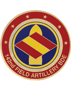 142nd Field Artillery (FA) Brigade Stock Coin with Domed Enamel
