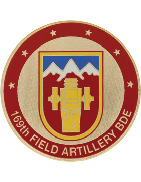 STOCK COIN-0169A 169 Field Artillery Brigade Domed Enamel