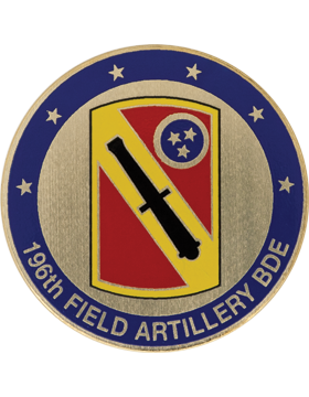 196th Field Artillery (FA) Brigade Stock Coin with Domed Enamel