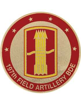 STOCK COIN-0197A 197 Field Artillery Brigade Domed Enamel