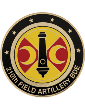210th Field Artillery (FA) Brigade Stock Coin with Domed Enamel