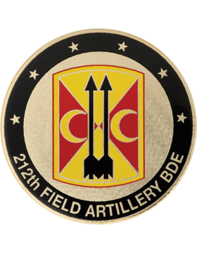 212th Field Artillery (FA) Brigade Stock Coin with Domed Enamel