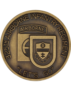 325th Airborne Infantry Regiment Stock Coin Brass Ox