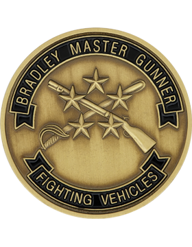 Bradley Master Gunner Stock Coin with Enamel