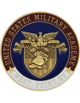 United States Military Academy Stock Coin Bronze with Enamel