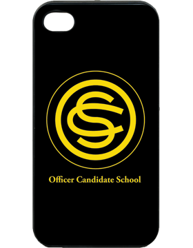 Custom iPhone 4/4S Plastic Cover w/DynaSub Insert, Officer Candidate S