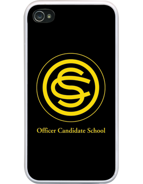 Custom iPhone 4/4S Rubber Case w/DynaSub Insert, Officer Candidate Sch