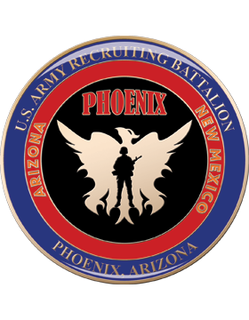Phoenix AZ Recruiting Bn Gold with Epoxy 2in Green