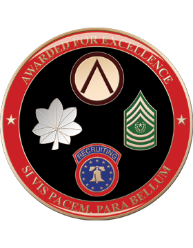 Phoenix AZ Recruiting Bn Gold with Epoxy 2in Red
