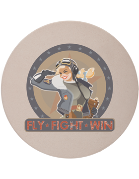 CSTR-AF-103, Fly-Fight-Win, AF Female Saluting