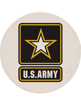 Coaster Black/Gold/White Star, US Army Strong