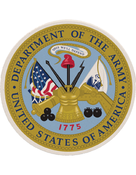 Coaster Department of the Army Seal