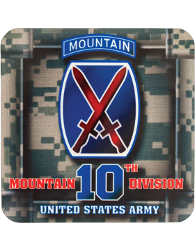 Coaster 10th Mountain Division with Tab on ACU