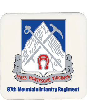 Coaster 87th Mountain Infantry Regiment