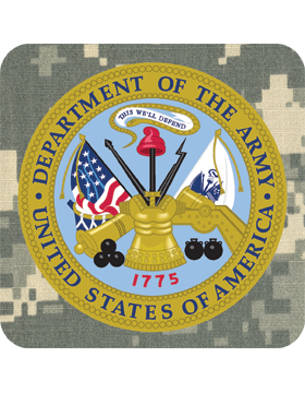 Coaster Department of the Army Seal on ACU