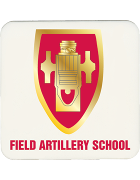 White, Field Artillery School, Gloss, Square Coaster