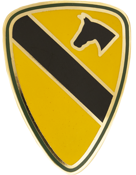 0001 Cavalry Div Unit Identification Badge (D-P0001C)