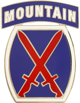 10th Infantry Division Combat Service Identification Badge