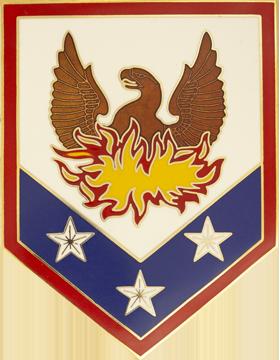 110th Maneuver Enhancement Brigade Combat Service Identification Badge