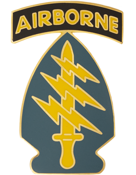 Special Forces Group with AirborneTab Combat Service Identification Badge