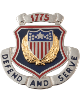 Regimental Crest Adjutant General (Defend and Serve 1775)
