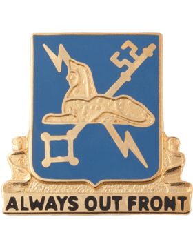 Regimental Crest Military Intelligence (Always Out Front)