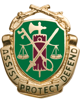 Regimental Crest Military Police (Assist Protect Defend)