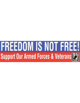 D71 Freedom is Not Free Bumper Sticker
