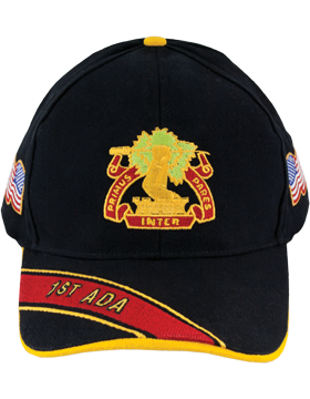 Deluxe Army Cap with 1st Air Defense Artillery Crest
