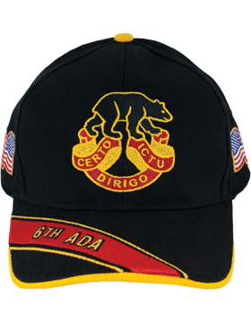 Deluxe Army Cap with 6th Air Defense Artillery Crest small