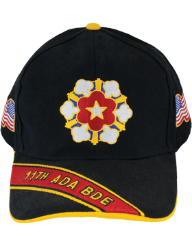 Deluxe Army Cap with 11th Air Defense Artillery Crest small