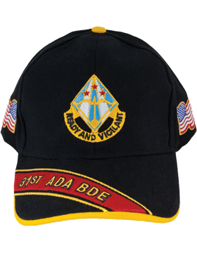 Deluxe Army Cap with 31st Air Defense Artillery Crest small