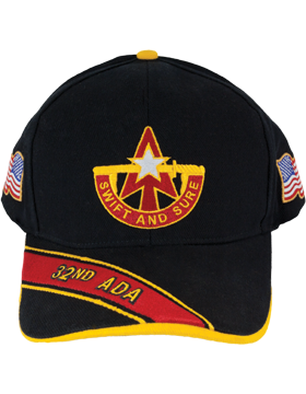 Deluxe Army Cap with 32nd Air Defense Artillery Crest