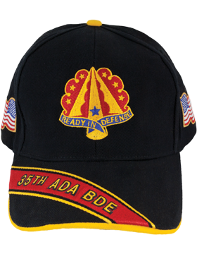 Deluxe Army Cap with 35th Air Defense Artillery Crest small