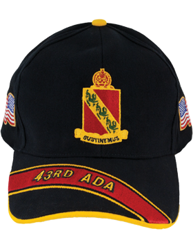 Deluxe Army Cap with 43rd Air Defense Artillery Crest small