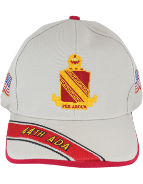 Deluxe Army Cap with 44th Air Defense Artillery Crest small
