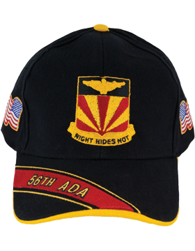 Cap (DC-ADA/DUI-0056A/B) Black with 56 Air Defense Artillery Crest