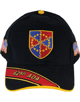 Cap (DC-ADA/DUI-0062A/B) Black with 62 Air Defense Artillery Crest